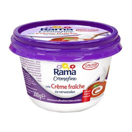 Rama Cremefine wie Saure Sahne und  wie Crème fraîche