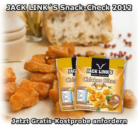 2 kostenlose Chicken-Snacks per Post nach Hause