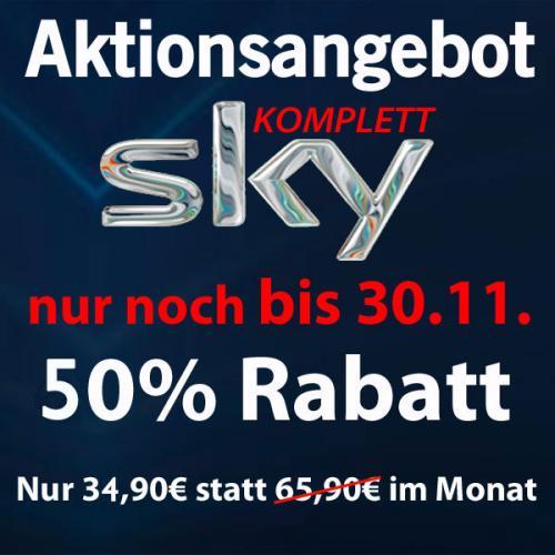 Sky komplett 34,90 €