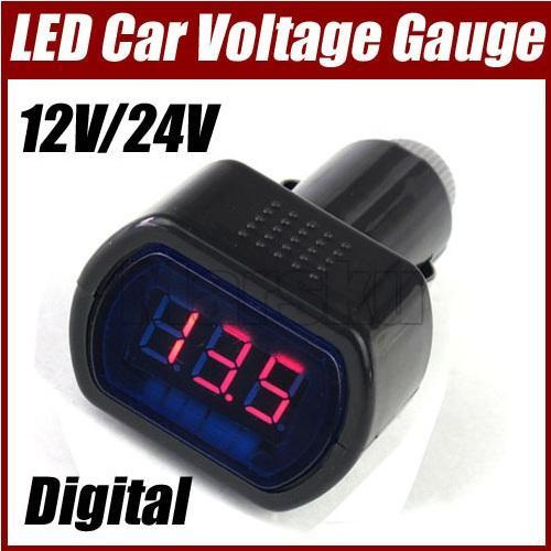12V/24V digitales LED AutoVoltmeter für 1,86 Euro inkl. Versand (der Winter kommt)