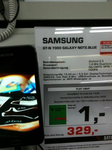 Lokal Satrun Frankfurt Samsung Galaxy Note 1 (N 7000) Schwarz für 329€