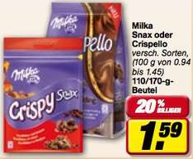 Milka Crispello für 0,59 € (statt 1,99 €) bundesweit @toom