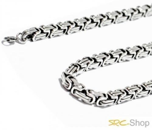 Edelstahl Schmuck für Männer, massive Königskette oder als Set mit Armband