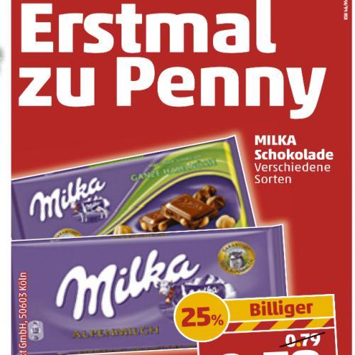 Milka 100 gramm 0.59 €