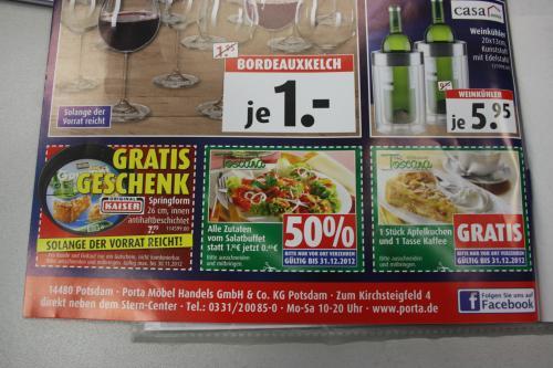 (lokal/Berlin/Brandenburg) gratis springform+ 1 Tasse Kaffee und 1 Stück Apfelkuchen