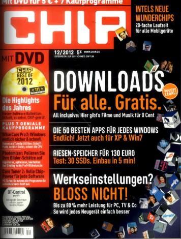 Wieder da: CHIP mit DVD im Jahresabo für 9,88 EUR direkt vom Verlag