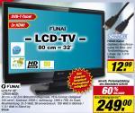 "Funai LT850-M32BB 32"" LCD-TV DVB-T, 3xHDMI, 2xScart bei Toom"
