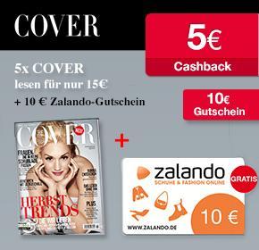 5 Ausgaben der COVER für 15€+ 10€ Zalando-Gutschein und 5€ Cashback von Qipu