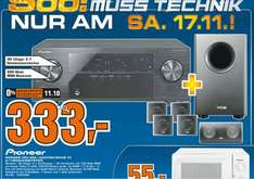 Pioneer VSX 322 inkl. Canton Movie 70 für nur 333 Euro; offline @ Saturn Celle am 17.11.12