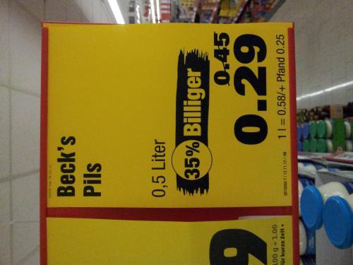 Pennymarkt - Becks und Franzikaner 0,5l Dose nochmals im Preis reduziert!