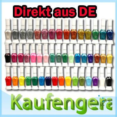 Fingernagel Kreativ Set mit 48 Farben für die Freundin! Nur 45 Cent pro Farbe!