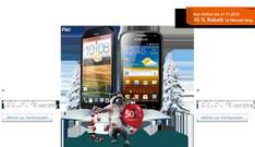 O² 50% xmas Special: z.B. Samsung Galaxy Ace 2 für 139,50€ zzgl. O2 Blue