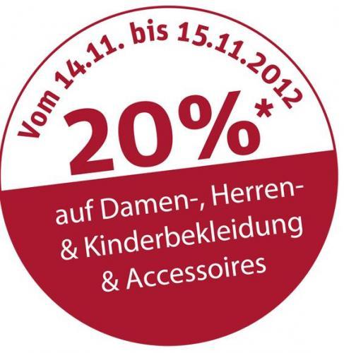 20% bei NKD.de auf Damen-, Herren- und Kinderbekleidung nur 14.-15.11.