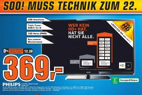 [LOKAL Fürth] Saturn Prospekt u.a. Philips 37 PFL 3507 K/02 für 369 €