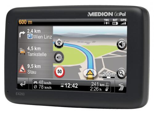 Navigationsgerät MEDION E4260 inkl. Kartenmaterial Westeuropa