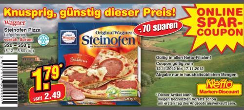 Original Wagner Steinoffenpizza bei Netto für nur 1,79€ statt 2,49€