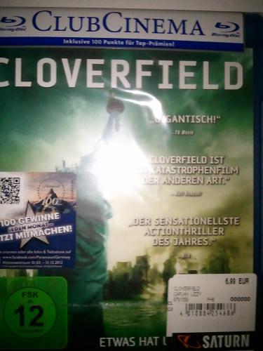 Cloverfield [Blu Ray] 6,99 € & Der Glücksbringer/ Into the Blue [Blu Ray] 3 € im Saturn [Berlin Alex OFFLINE]