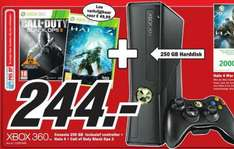 (Lokal MM Roermond) X-Box 360 (250GB) +Controller+COD Black Ops2+Halo4