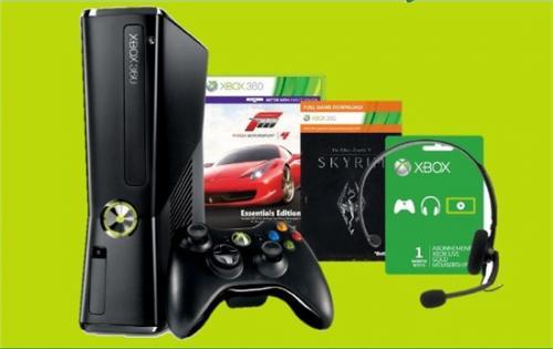 Xbox 360 250GB + Skyrim + Forza 4 (Essentials) + Black Ops 2 - 249,99€ - on&offline Gamestop
