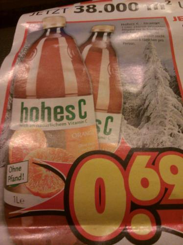 (Offline) (Lokal) hohes C Orange 1L für 0,69€ @ segmüller weiterstadt