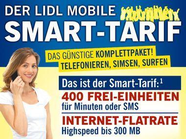 Lokal und Online: Lidl Mobile Smart SIM für 4,95€ statt 9,95€
