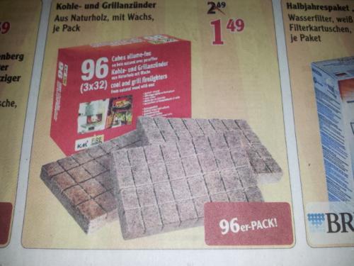 96er Pack Kaminanzünder aus Naturholz, mit Wachs evtl. lokal im Globus Neutraubling
