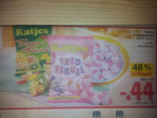[Lokal] Kaufland: Katjes Fruchtgummis (z.B. Fred Ferkel) für 0,44€ (-48%)