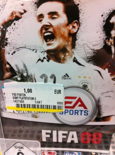 [Lokal] Playstation 3: Fifa 08 für 1€ @ MM Ludwigshafen