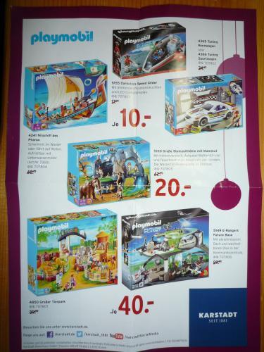 [Lokal im Karstadt] Playmobil recht günstig ab 10€