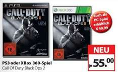 Call Of Duty Black Ops 2 PS3/XB360 für 55EUR bei Müller