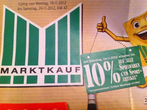 Marktkauf Stuttgart Feuerbach 10% auf alle Spielwaren und Sport-Artikel am 24.11 [lokal]