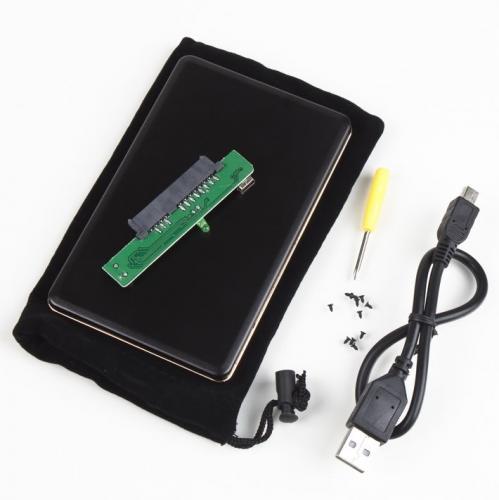 (CN) externe Festplattenhülle (2.5 Zoll 2.0 SATA mit Lederhülle, Schraubenzieher und USB Kabel)  für ca. 2,80€ @ Ebay