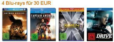 [Blu-ray] 4 Filme für 30 € @Amazon