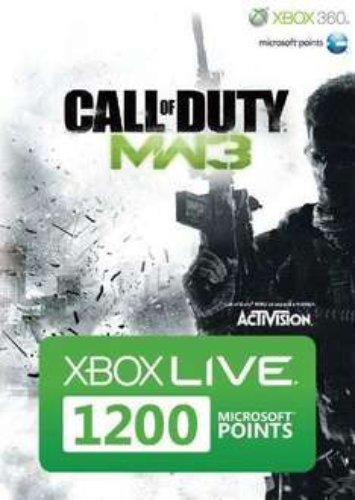 1200 Microsoft Points Karte im MW3-Design (kein Code per mail) Xbox 360 für 9,95 @ebay