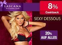 20% Geburtstagsrabatt + 8% Cashback @ LASCANA
