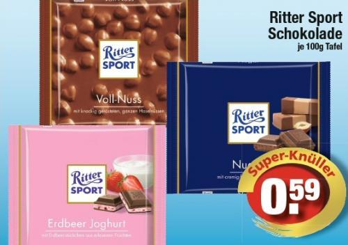 [Edeka Südbayern] Ritter Sport 100g für 0,59 EUR