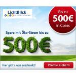 Bis zu 500€ Cashback für Wechsel zu Lichtblick (Strom) @HGWG