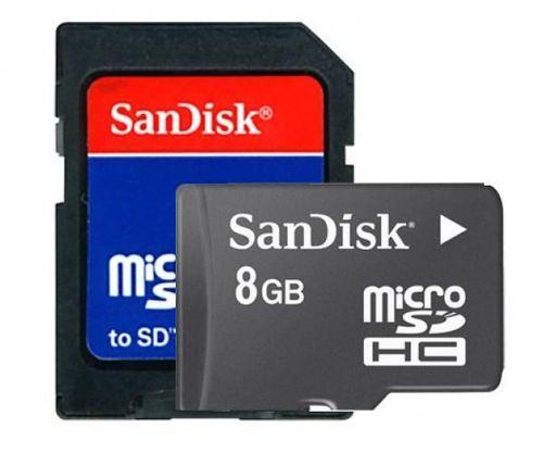 SanDisk micro SD 8GB + SD Adapter für nur 2,55 EUR inkl. Versand!
