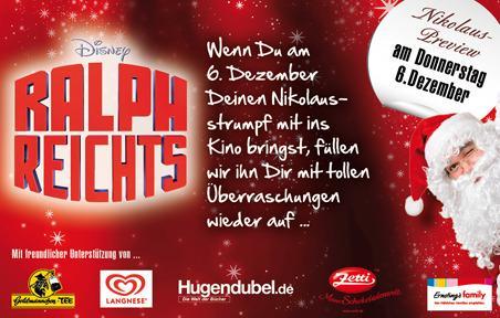 Gratis-Füllung für euren Nikolaus-Strumpf - 6. Dezember 2012 in teilnehmenden Cineplex-Kinos