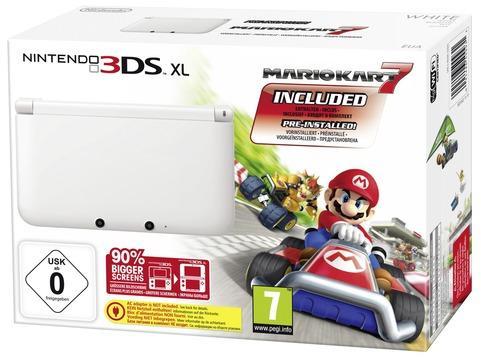 Nintendo 3DS XL Weiß + Mario Kart 7 für 186,15€ [eBay]