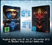 Starcraft II für 19,99€ und Diablo III für 39,99€ (nur diese Woche)