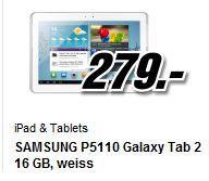 """[lokal Schweiz] Samsung P5110 Galaxy Tab 2 (10.1"""", 16 GB, WiFi, weiß/silber) 279CHF"""
