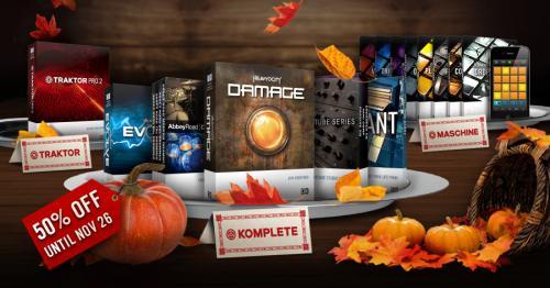 Native Instruments: THANKSGIVING-SPECIAL: 22. - 26.11.2012 / 50% auf TRAKTOR PRO 2, MASCHINE EXPANSIONS, KOMPLETE INSTRUMENTE UND EFFEKTE
