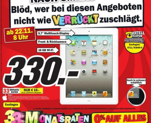Ipad2 WiFi 16GB lokal beim MM in Esslingen