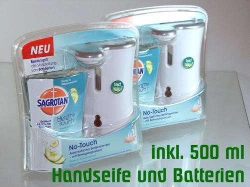 Wenn die Seife abläuft: 2er-Set SAGROTAN No-Touch Gurke & Wassermelone für nur 14,- EUR inkl. Versand.