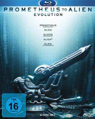 Prometheus to Alien - The Evolution Bluray Box (5 Discs) für 36,99 € ohne VSK@BUECHER.DE