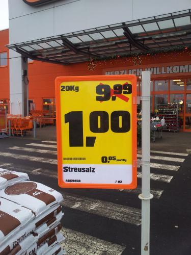 [Lokal? Köln-Marsdorf] 20kg Streusalz nur 1,- Euro bei Obi