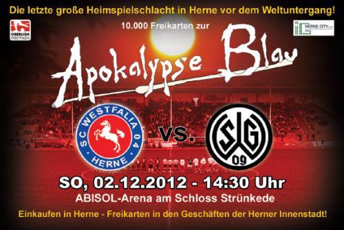[Fussball] Westfalia Herne vs. Wattenscheid 09 - 10.000 Freitickets -> Anpfiff 2.12.2012 : 14:30
