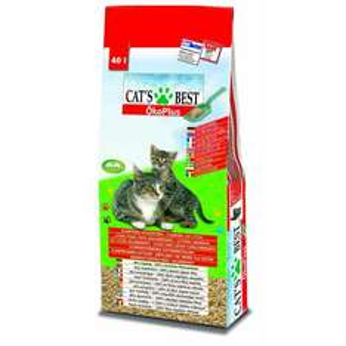 Katzenstreu Cat's Best Öko Plus (40 L / ca 19,5 kg) + Leckerlis dank 5€ Gutschein / 15% Rabatt