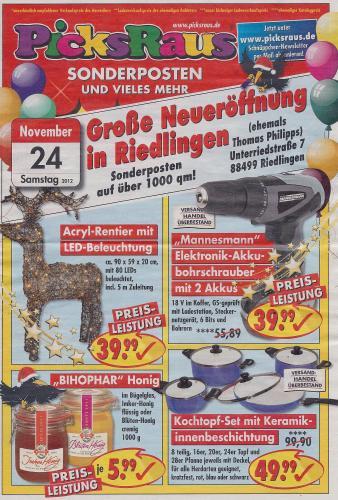 [LOKAL/88499 Riedlingen] PicksRaus Neueröffnung (ehem. Thomas Philipps)